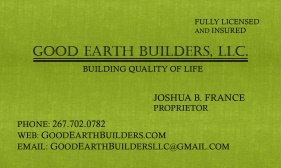 good earth business card