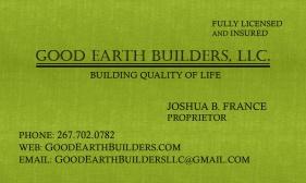 good earth business card